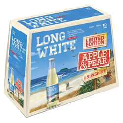 Picture of LONG WHITE VODKA APPLE AND PEAR 4.8% 10Pk 320ML